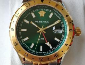 顶级原单手表男款绿盘间金带VCQ系列石英情侣手表