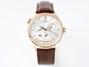 ZF积家精仿手表男款白盘棕带地理学家Q1428421系列机械皮带手表