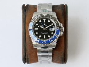 GS劳力士一比一手表男款黑盘格林尼治型II GMT系列自动机械钢带手表