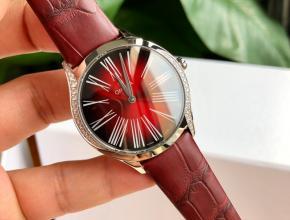 顶级原单手表欧米茄 石英蝶飞名典系列真金真钻女款皮带手表
