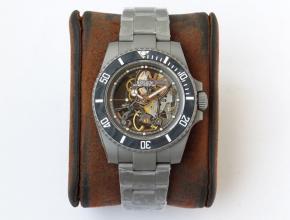 顶级高仿手表劳力士全镂空潜航者系列男款钢带机械手表