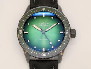 顶级复刻手表宝珀男款绿盘尼龙带五十寻系列限量版腕表