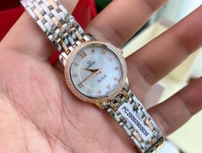顶级原单手表欧米茄女款白盘真金真钻蝶飞系列石英手表
