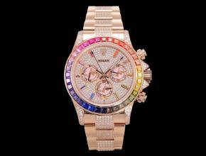 JH 顶级复刻手表劳力士白盘金带蚝式恒动宇宙计型迪通拿手表
