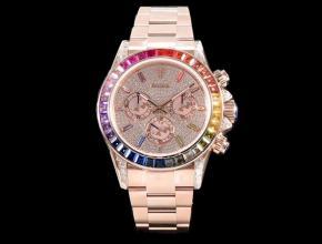 JH顶级复刻手表劳力士白盘钢带新款蚝式恒动宇宙计型迪通拿真金真钻手表