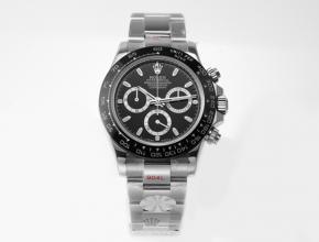 劳力士男款黑盘钢带宇宙计型迪通拿机械手表