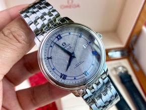 顶级原单手表欧米茄机械男款灰盘钢带蝶飞系列手表