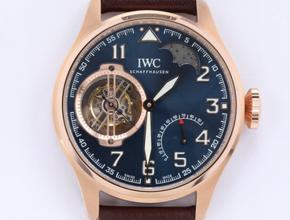 顶级复刻手表万国男款蓝盘钟点房飞行员系列陀飞轮腕表