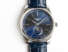 GF顶级复刻手表浪琴男款蓝盘蓝带名匠系列皮带腕表