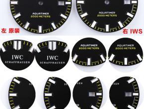 IWS万国男款全自动机械复刻手表真假对比评测