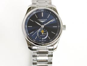GF顶级复刻手表浪琴名匠系列男款蓝盘钢带42mm机械腕表