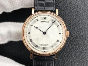 顶级复刻手表经典系列白盘黑带机械皮带男款腕表