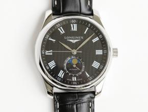 GF顶级复刻手表浪琴男款黑盘黑带名匠系列腕表