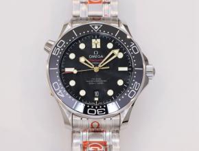 OR顶级复刻手表欧米茄男款海马系列机械钢带腕表