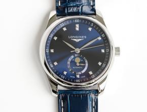 GF顶级复刻手表浪琴自动机械皮带名匠系列 月相42mm男款腕表