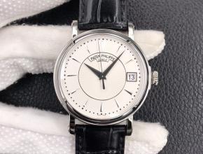ZF顶级复刻手表百达翡丽男款白盘黑带古典5153系列皮带腕表