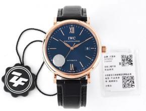 ZF顶级复刻手表万国男款自动机械皮带蓝盘黑带柏涛菲诺系列腕表