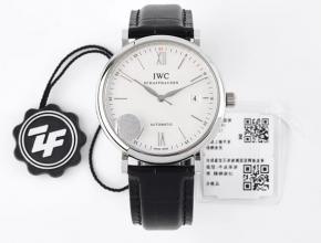 ZF顶级复刻手表万国白盘黑带柏涛菲诺系列皮带自动机械腕表