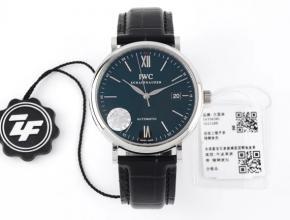 ZF顶级复刻手表万国蓝盘黑带自动机械皮带最强柏涛菲诺系列腕表