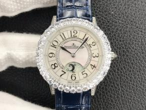 GF顶级复刻手表积家女款白盘蓝带约会系列皮带腕表
