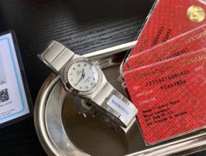 欧米茄女士手表,欧米茄蝶飞换表带