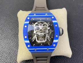JB复刻手表理查德米勒真陀飞轮RM52-01男装白盘黑橡胶带机械手表