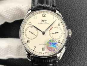 YL万国复刻手表自动机械男装白盘葡七皮带手表