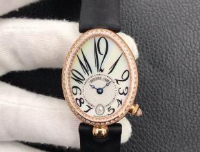 ZF复刻手表宝玑女士白盘丝娟表带那不勒斯皇后系列手表