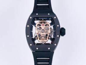 JB理查德米勒复刻手表自动机械真陀飞轮男士白盘橡胶带手表