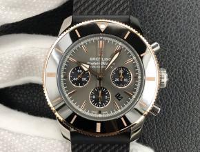 复刻手表百灵超级海洋文化计时系列男款绿盘皮带手表