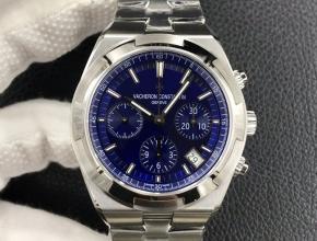 8F江诗丹顿复刻手表男款蓝盘钢带纵横四海系列5500V机械手表
