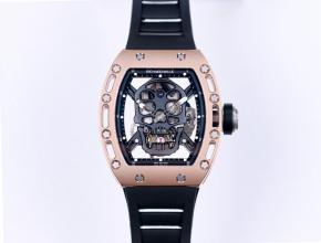 JB理查德米勒复刻手表 真陀飞轮男装黑盘橡胶带自动机械手表