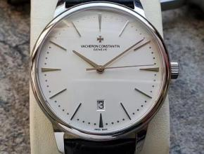 MKS江诗丹顿传承系列85180男款白盘蓝带自动机械手表