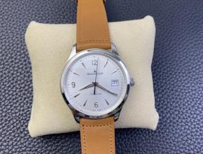 ZF积家男款白盘棕带大师系列日历自动机械手表