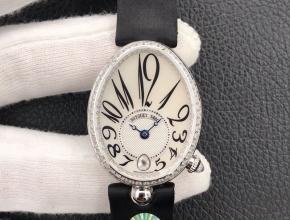ZF宝玑复刻手表女款白盘黑带那不勒斯皇后系列机械手表