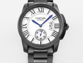 复刻手表卡地亚卡利博系列男款白盘钢带自动机械手表