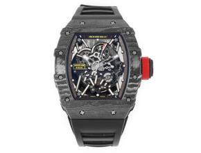 ZF理查德米勒复刻手表自动机械男款黑盘黑橡胶带手表
