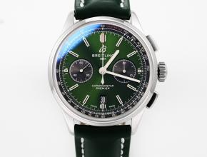 GF新品百年灵复刻手表男装绿盘绿带v2升级版自动机械皮带手表