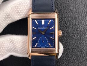 MG积家复刻手表男装蓝盘蓝带翻转系列手动机械手表