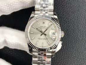 劳力士 女装 复刻手表日志型 31MM白盘钢带机械手表