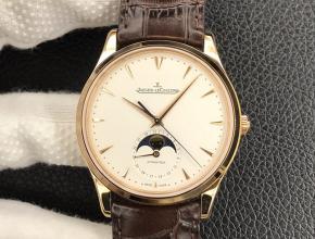 GF 复刻手表积家男款白盘棕带自动机械大师系列皮带手表