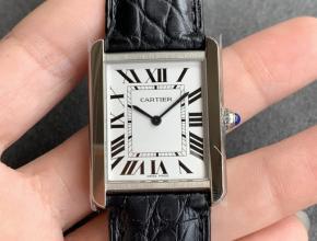 K11厂卡地亚复刻手表女装白盘黑带坦克系列皮带手表