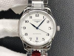 KL厂复刻手表浪琴男款白盘钢带名匠系列L2.628.4.78.6自动机械腕表