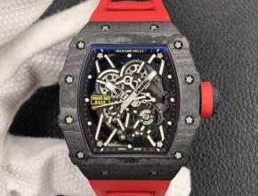 ZF复刻手表理查德米勒男装黑盘红橡胶带自动机械手表
