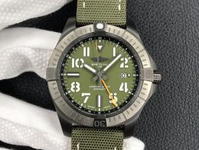 百年灵复刻手表男款绿盘尼龙带自动机械手表