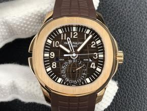 ZF复刻手表百达翡丽男款棕盘棕带Aquanaut系列腕表