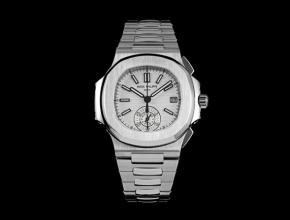 3K百达翡丽复刻手表鹦鹉螺多功能计时男士白盘钢带手表