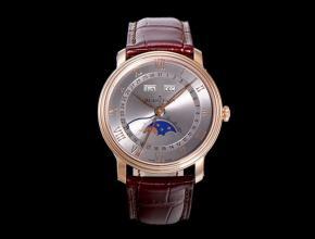 OM宝珀复刻手表全新V3升级男士灰盘棕带机械手表