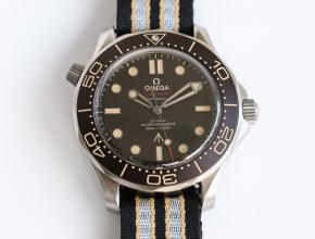 OR欧米茄复刻手表男装黑盘尼龙带机械手表