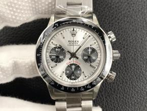 复刻手表劳力士男款白盘钢带迪复古 保罗纽曼 系列计时机械手表